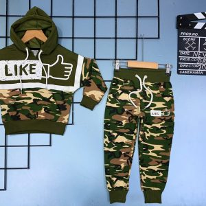 Army Camouflage Design Children Clothing Sets Tracksuit For Kids