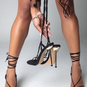 Fashion Pointed Stiletto High Heels Lace Up Sandals For Ladies/Women