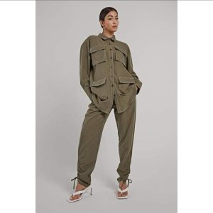 Ladies 2pieces Trousers And Jacket Shirt Set