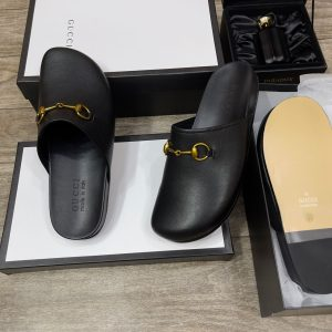 MEN'S PURE LEATHER DESIGNER ITALY MULES SLIPPERS