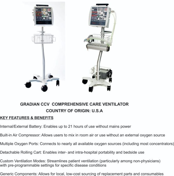 Allied Healthcare AHP300 Electrically Controlled Transport Ventilator