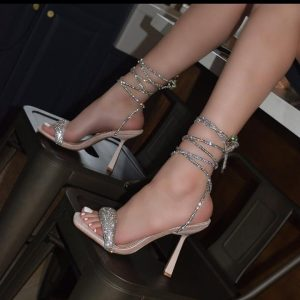 CLASSY LADIES HIGH HEEL LACED UP SANDALS